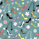 texture of women's shoes