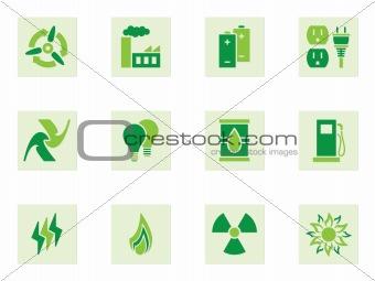 Green Energy Icons