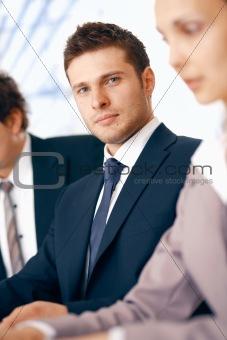 Businessman Listening.