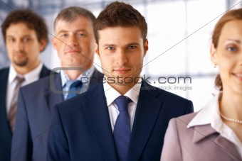 Businessman With Colleagues