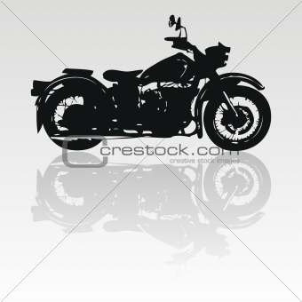 Vector motorcycle silhouette