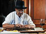 man making luxury handmade cuban cigars