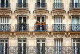 Apartment building with balcony
