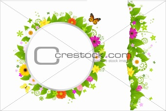 Circle And Border From Flowers