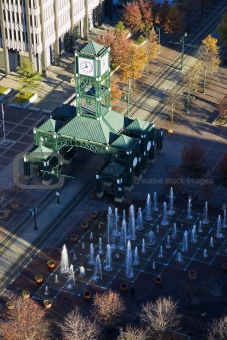 Aerial view of the tram station