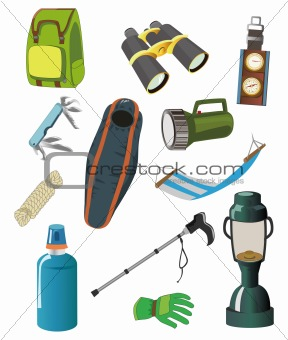 cartoon Climbing equipment icon