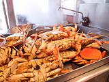 Dungeness Crabs In Kitchen