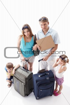 Family tired of holiday