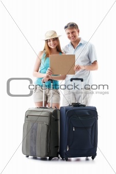 A young couple goes on vacation