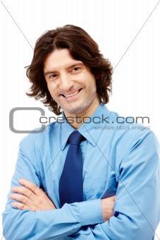 Smiling boss