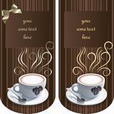 Vintage card with coffee mug
