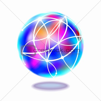 Abstract internet symbol