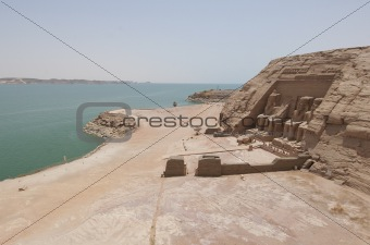 View over Abu Simbel to Lake Nasser