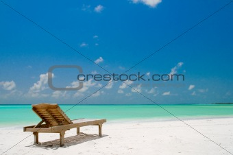 Canvas Chair on a tropical beach