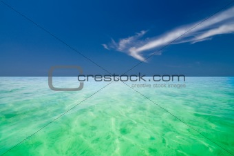 crystal clear green Indian Ocean