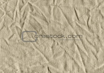 Crushed fabric