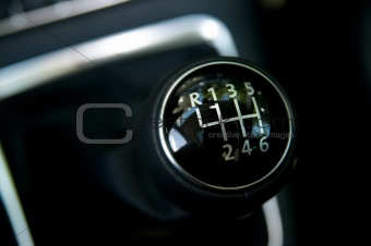 six speed gear stick