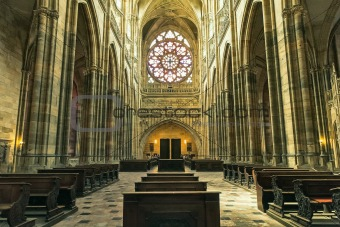 Prague cathedral, places of interest Europe