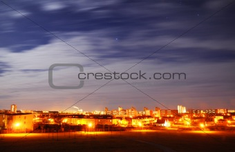 city and sky at night