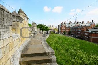 City walls in York, UK