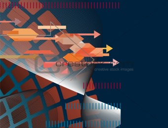 Abstract technology background with arrows