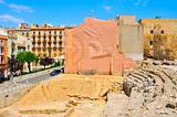 remains of roman circus in Tarragona, Spain