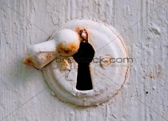 Old-fashioned keyhole