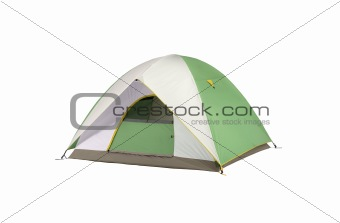 an isolated camping tent