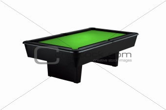billiard table isolated on a white background