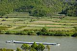 Cargo Ship in the Danube Valley