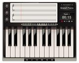 Vector piano template with icons
