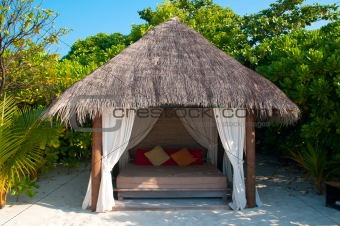 Beach Cabana on a maldivian island