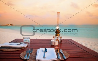 Candlelight Dinner at the Beach