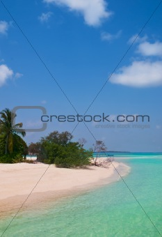 unspoilt tropical beach