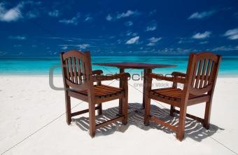 Beach Restaurant on a maldivian island