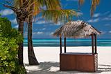 Beachbar on a tropical island