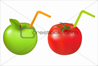 Apple And Tomato With Tubule