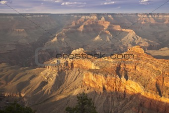 Beautiful Landscape of the Grand Canyon, Arizona at Sunset.