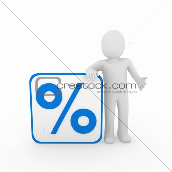 3d man sale percentage blue