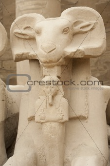 Ram headed sphinx at Karnak Temple