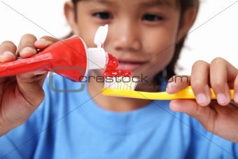 Tooth paste and Toothbrush
