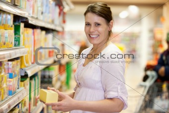 Young Female in Supermarket