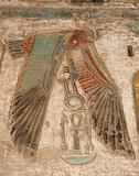 Egyptian hieroglyphics on a temple wall