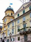 The Baroque city clock tower in Rijeka