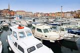 boats in Rovinj marina, Istria, Croatia