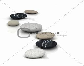 3d gray stone pyramid