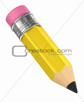 3d color pencil isolated
