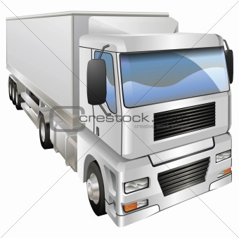 Illustration of haulage truck