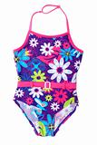 Baby colour swimsuit in red belt