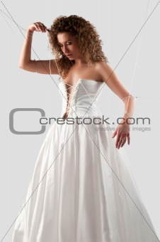 woman in a wedding dress